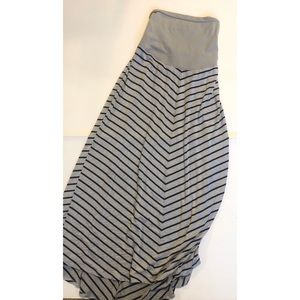 Motherhood Maternity Striped Maxi Skirt Size XL
